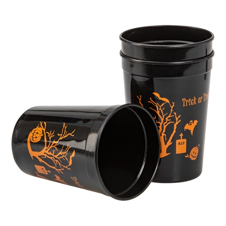 HALLOWEEN GLASS BLACK 4-P (6)