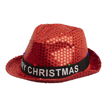 HAT W.LIGHTS CHRISTMAS FEDORA (12)